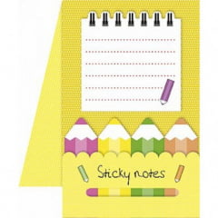STICKY NOTES MARKERS LÁPIS